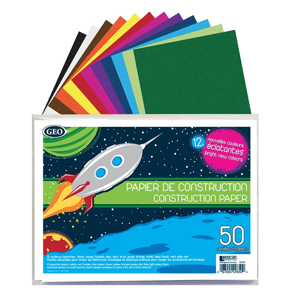 Construction Paper in Envelope, 50 Sheets