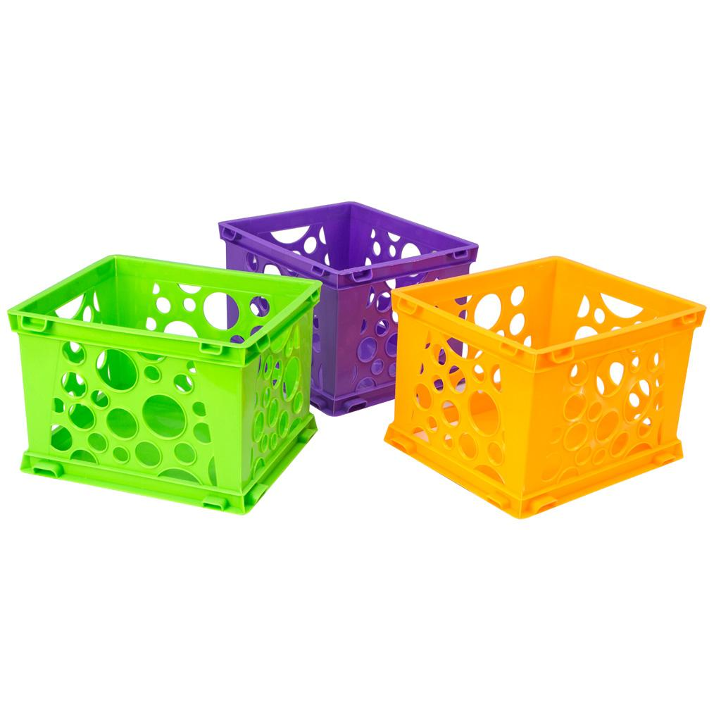 Stackable Storage Crate Mini, Neon