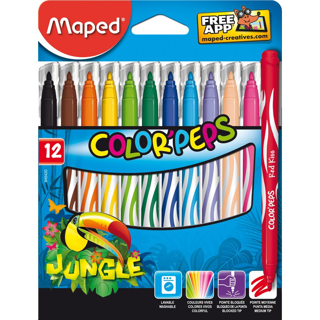 Feutres Color'Peps Jungle, x12