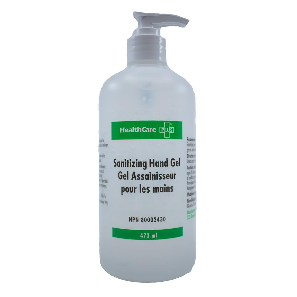 HEALTHCARE Sanitizing Hand Gel with pump, 473mL