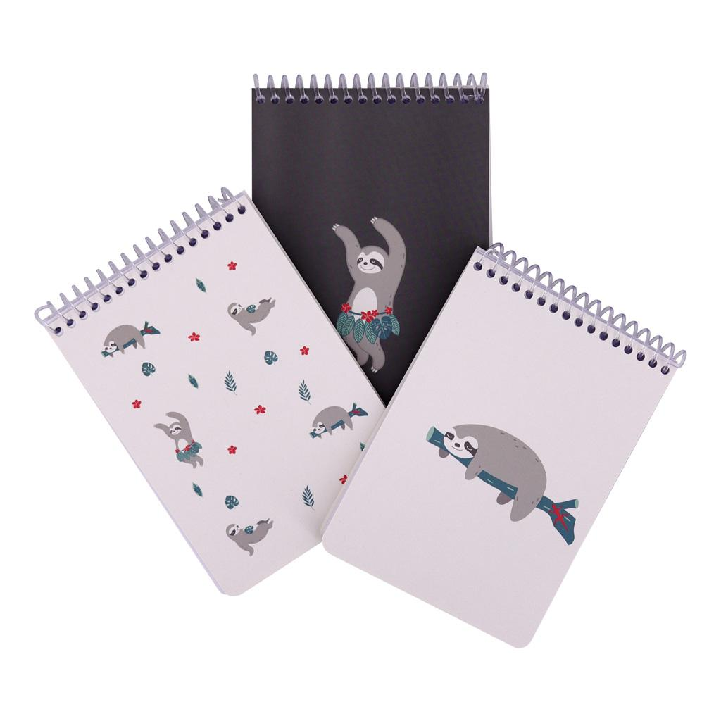 A6 Lazy Sloth Memo Book