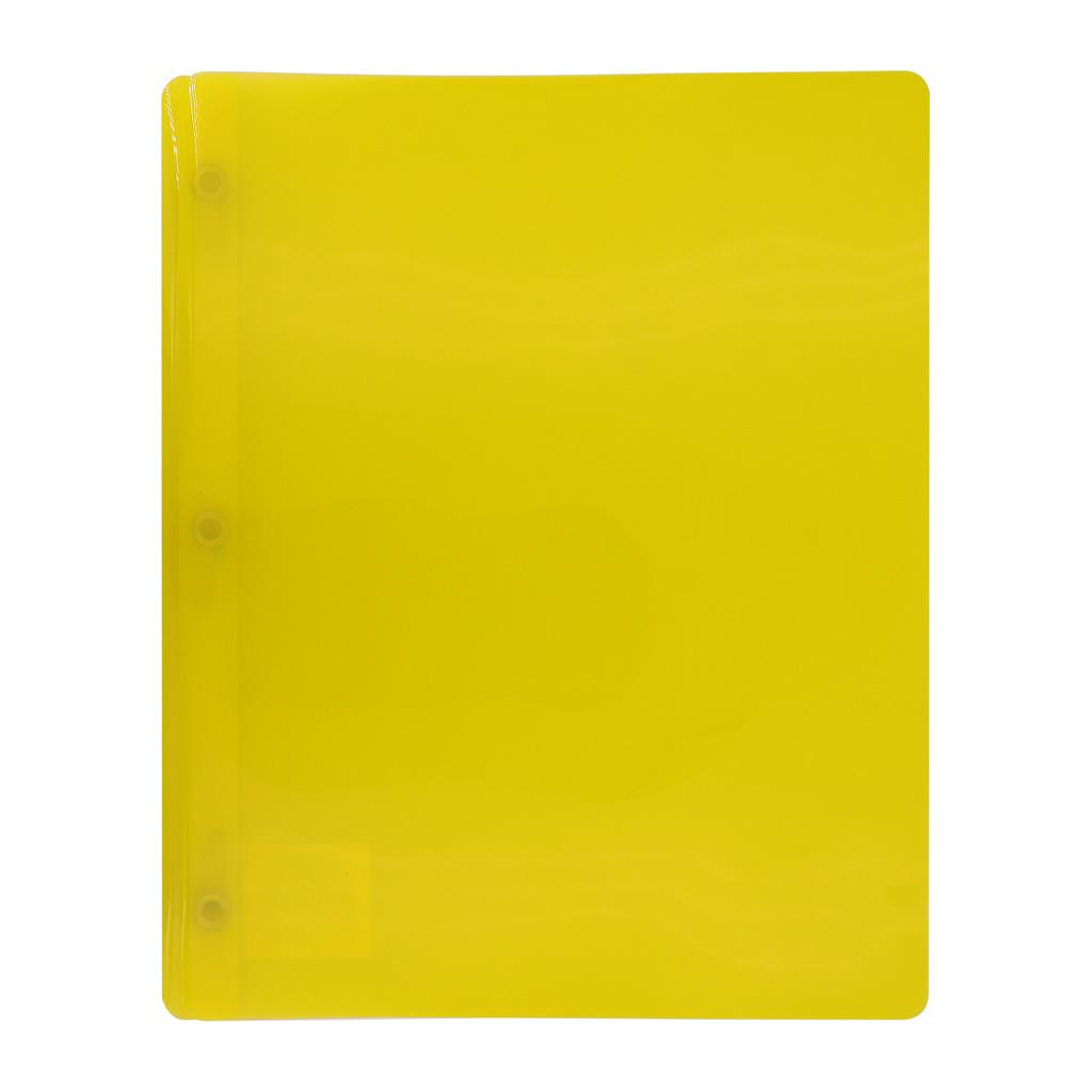 Transluscent 3-Prong Report Cover, Yellow