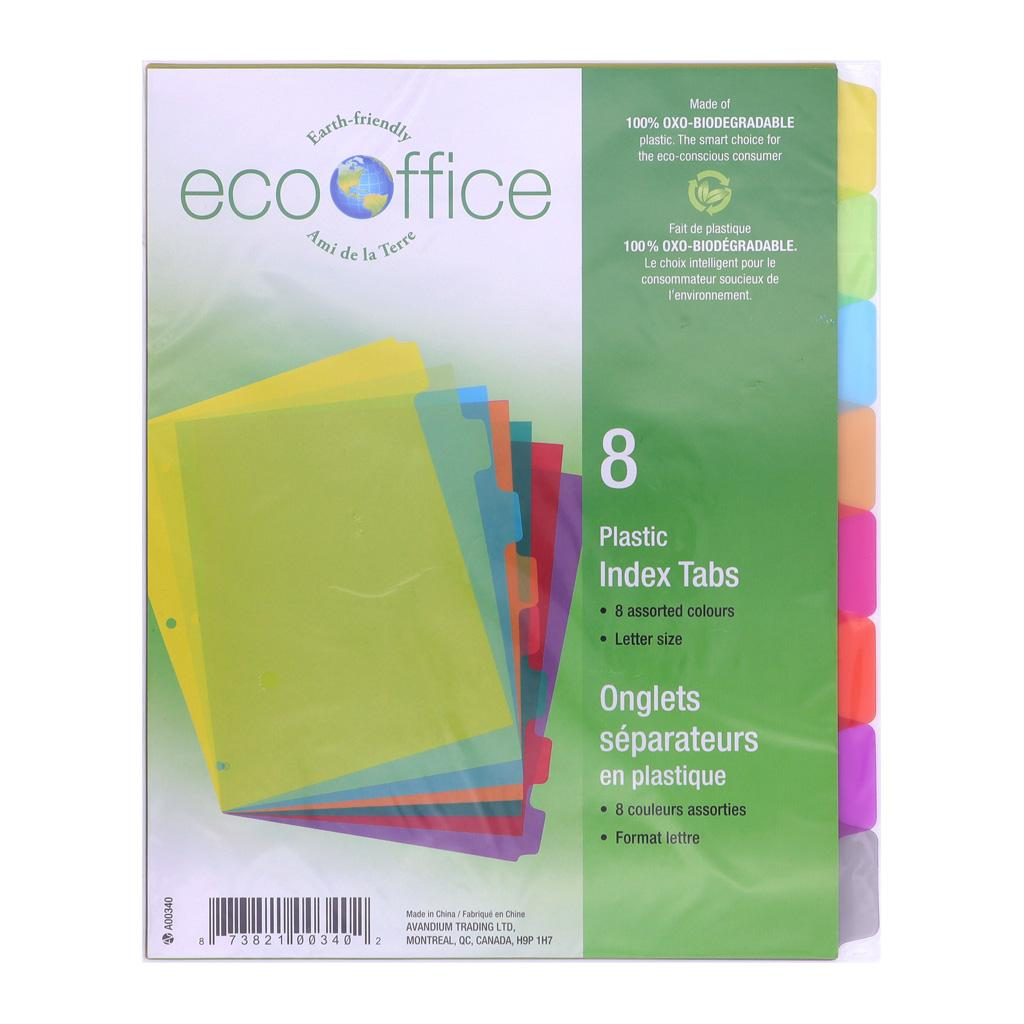 8 Poly Index Tab Dividers