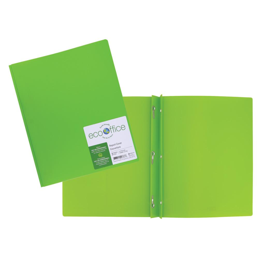 Poly 3-Prong Report Cover, Green