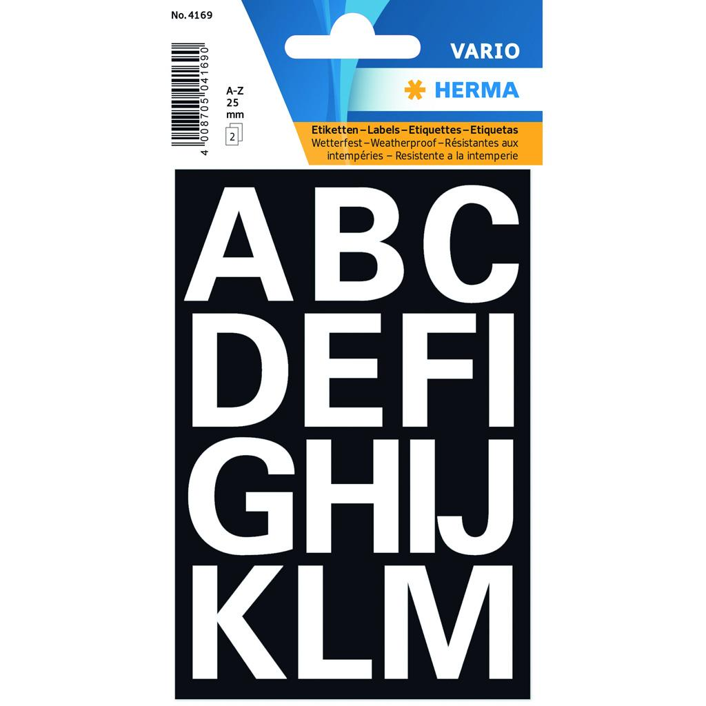 VARIO Letters (A-Z) 25 mm, White
