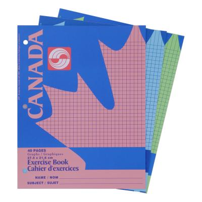 "Canada Exercise Notebook, Quad 4-1"", 40pg"