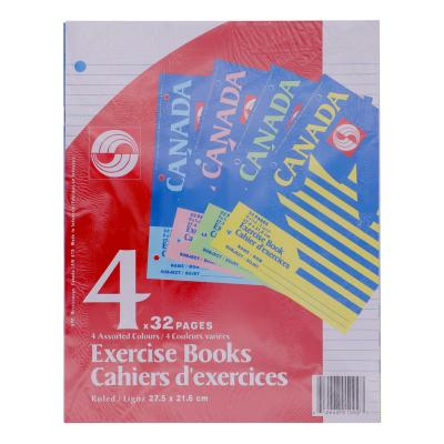 Canada Exercise Notebook, Ruled, 32pg