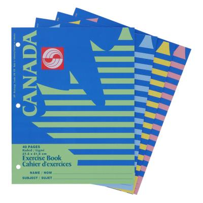 Canada Exercise Notebnook, Ruled, 40pg