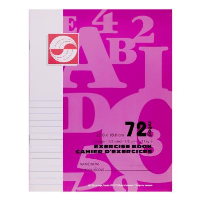 Exercise Book, 1/2 Plain, 1/2 Ruled, 72pg