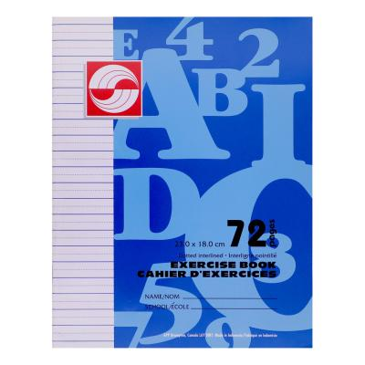 Cahier d'exercices, Interligné-pointillée, 72pg
