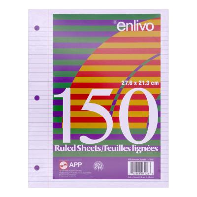 Loose-Leaf Paper, 7mm Ruled, 150 Sheets
