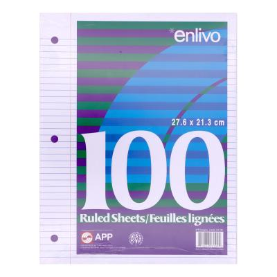 Loose-Leaf Paper, 7mm Ruled, 100 Sheets