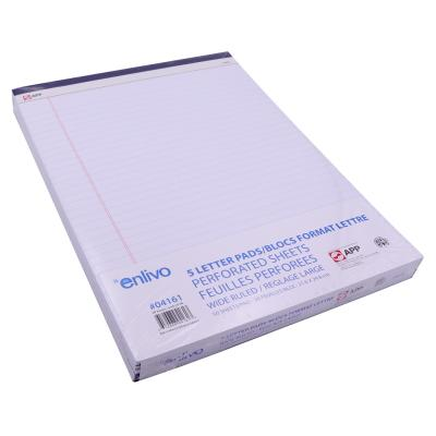 5-PACK Writing Pad Ruled 50 Sheets, 8.5x11