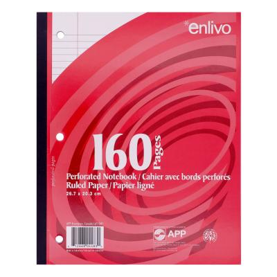Exercise Notebook, Perforated Sheets, Ruled, 160pg
