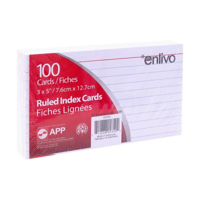 "Index Cards 3""x5"", Ruled, x100 White"
