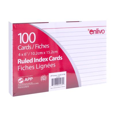 "Index Cards 4""x6"", Ruled, x100 White"