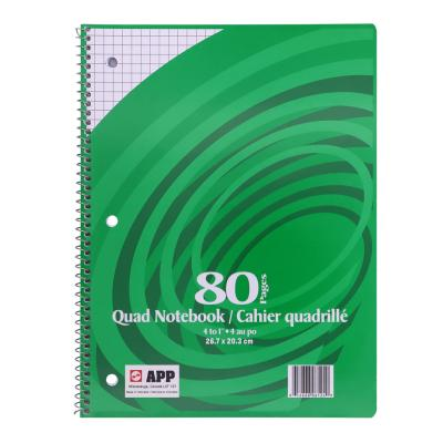 "Coil Exercise Book, Quad 4-1"", 80pg"