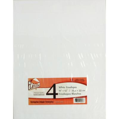 White Envelopes 10x13, 4PK