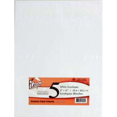 White Envelopes 9x12, 5PK