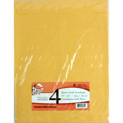 Kraft Envelopes 10x13, 4PK