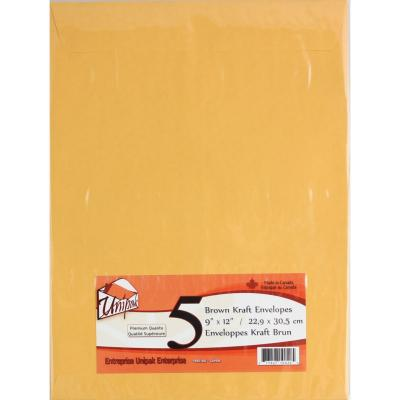 Kraft Envelopes 9x12, 5PK