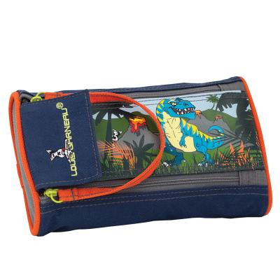 LG Pencil Case, 2 Zippers - Dinosaurs