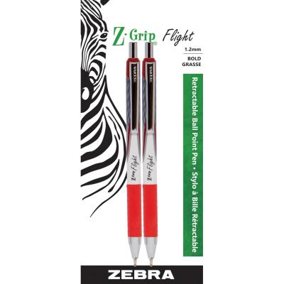 Z-Grip Flight Ball Pen, 1.2mm, x2 Red