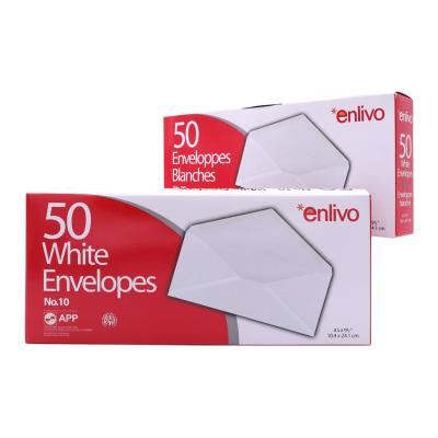White Envelopes, N° 10, 50/Box