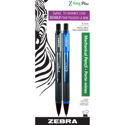 Z-Grip Mechanical Pencil, 0.7m, x2 assorted