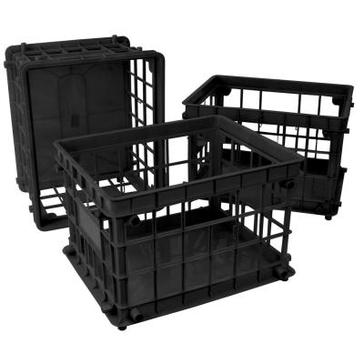 Stackable Storage Crate large, Black