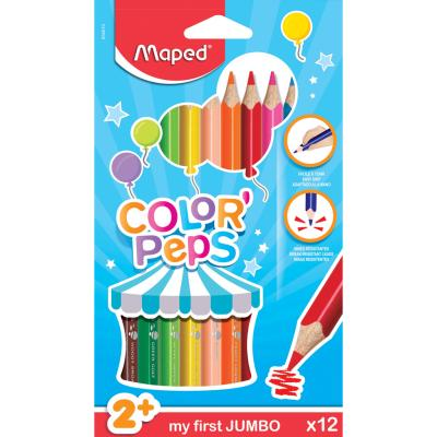 Color'Peps Coloured Pencils, x12 Maxi