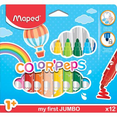 Color'Peps Maxi Markers, x12