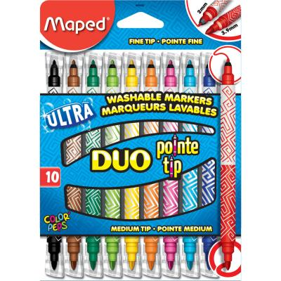 Feutres Color'Peps DUO pointes, x10