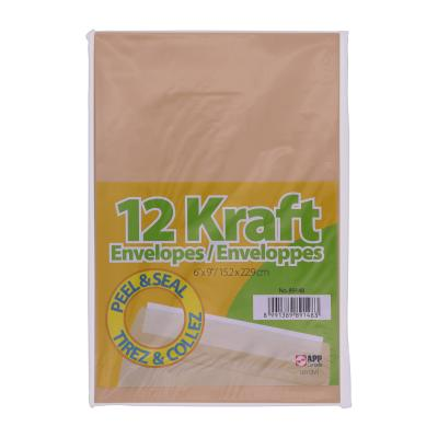 Peal & Seal Kraft Envelopes, 12PK