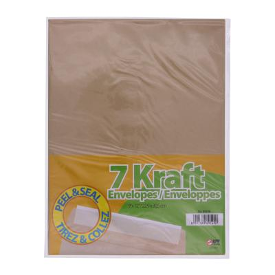 Peal & Seal Kraft Envelopes, 7PK