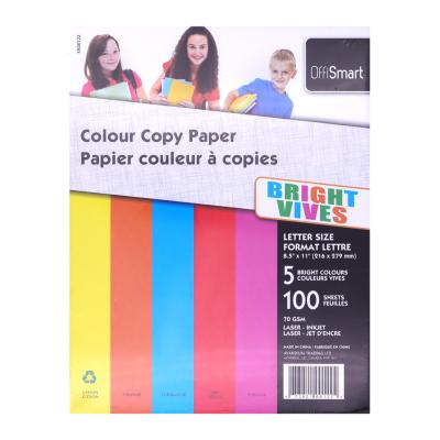 Colour Printing Paper, Letter size, Bright, 100PK