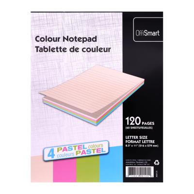 "Pastel Writing Pad, Ruled, 8.5""x11"", 120pg"