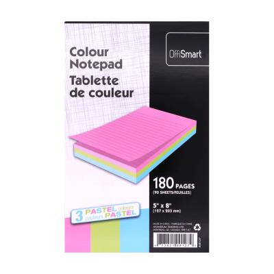 "Pastel Writing Pad, Ruled, 5""x8"", 180pg"