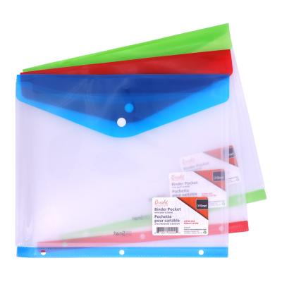 Poly Binder Pocket with Snap, Side Load