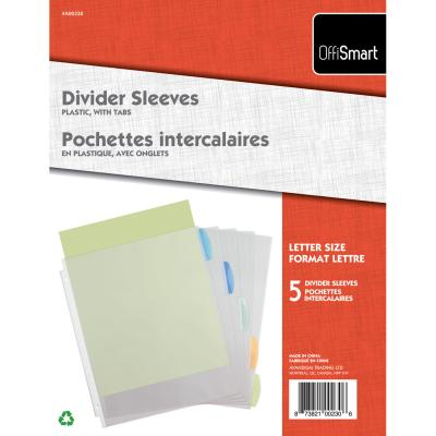 Sheet Protectors with Tab Divider, 5PK