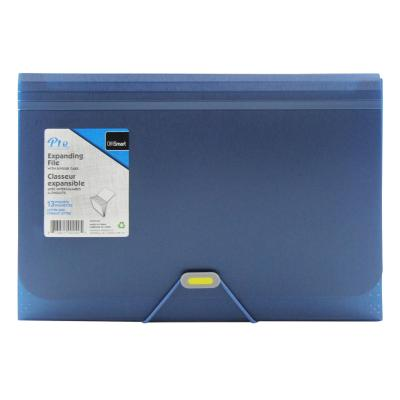 13-Pocket Expanding File, Metallic Blue