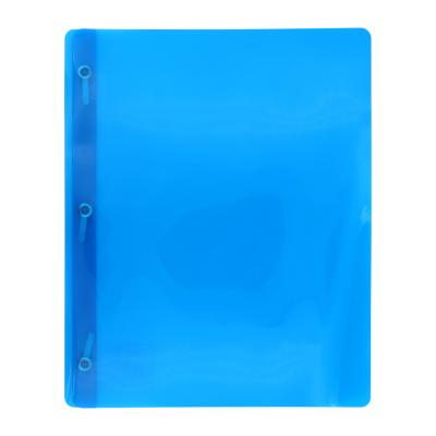 Transluscent 3-Prong Report Cover, Blue