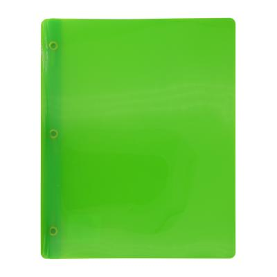 Transluscent 3-Prong Report Cover, Green