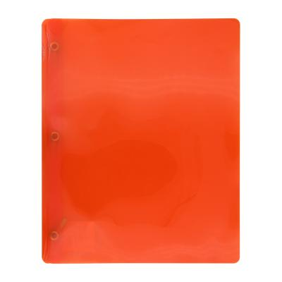 Transluscent 3-Prong Report Cover, Orange