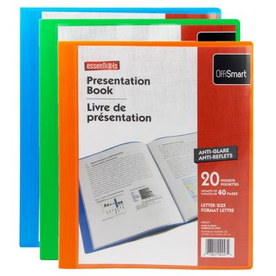 20-Pocket Poly Display Book, Assorted