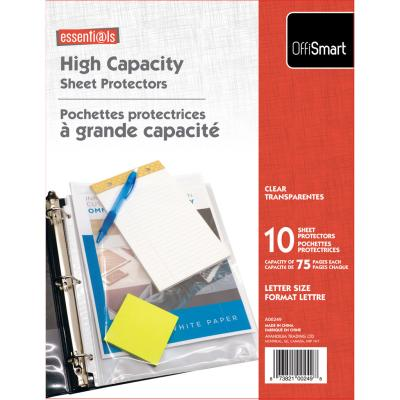 High Capacity Sheet Protector, 10PK, Clear