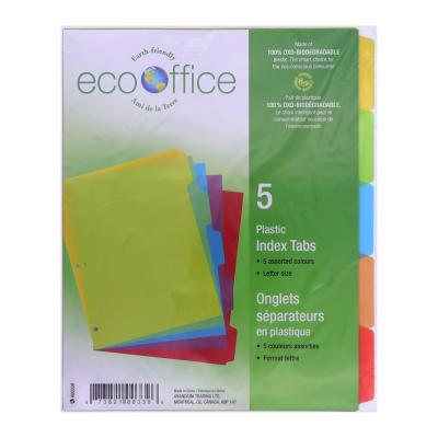 5 Poly Index Tab Dividers