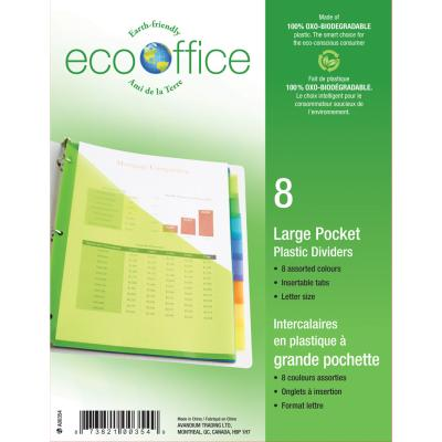 8 Poly Index Tab Dividers with 1 Pocket
