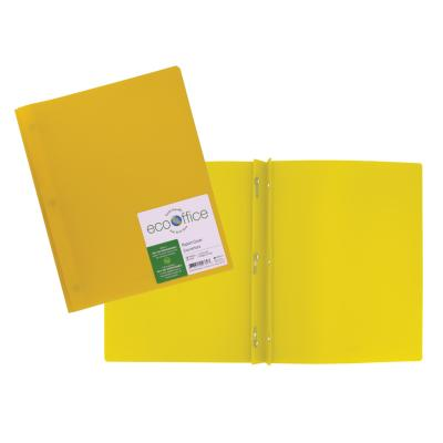 Poly 3-Prong Report Cover, Yellow