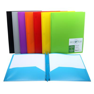 Poly 3-Prong Report Cover, 2 Pockets, 8 Colours